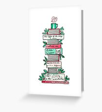A Stack of Holiday Classics Greeting Card