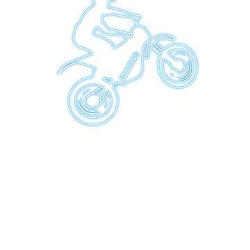 Motocross t-shirt (Neon Logo) by Spartiatis75