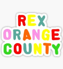 REX ORANGE COUNTY TSHIRT Sticker