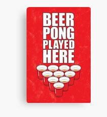 Beer Pong poster Canvas Print