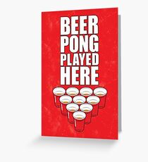 Beer Pong poster Greeting Card