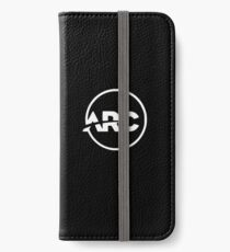 ARC Branded Ware | White on Black iPhone Wallet