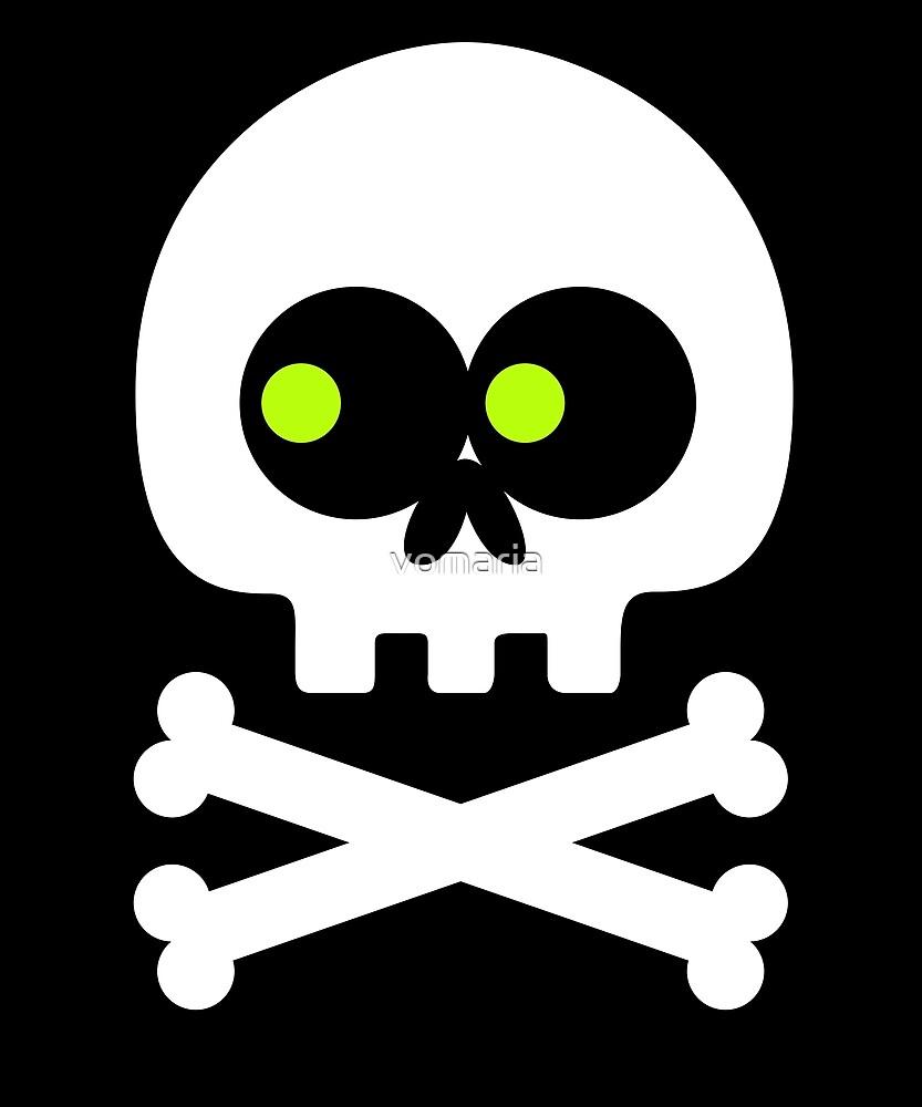 Skull Crossbones Emoji by vomaria