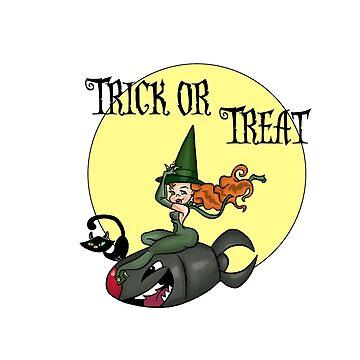 Halloween Witch Nose Art by cartoonpinups