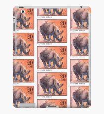 1975 East Germany Zoo Rhinoceros Postage Stamp iPad Case/Skin