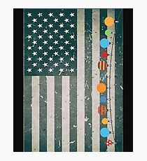 Christmas Ornaments American Flag Stripe Photographic Print