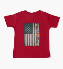 Christmas American Flag Gift Box Stripe Kids Clothes