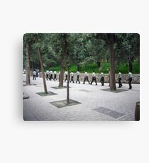 Soldiers Marching Canvas Print