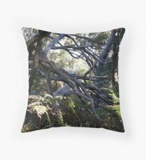 Tangled woods Throw Pillow