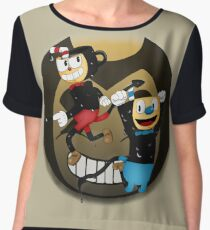 Cuphead vs. the Ink Devil Women's Chiffon Top
