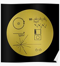 Voyager Goldene Schallplatte Poster