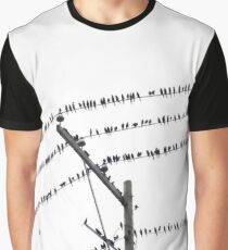Birds On Electric Wire Graphic T-Shirt