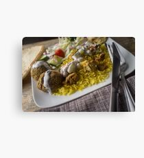 NY Street Style Chicken Rice Canvas Print