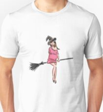 Cute Little Witch Sketch T-Shirt