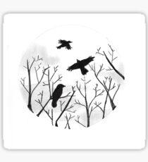 Ravens Over the Moon Sticker