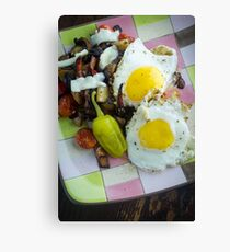 Eggs Pepperoncini Home Fries Canvas Print