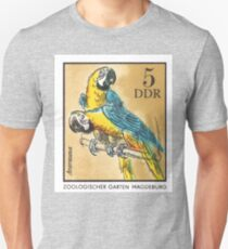 1975 East Germany Zoo Macaws Postage Stamp T-Shirt
