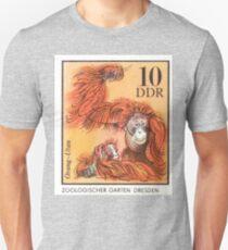 1975 East Germany Zoo Orangutan Postage Stamp T-Shirt