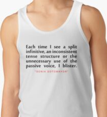 "Each time i...""Sonai Sotomoyar"" Inspirational Quote Tank Top"
