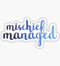 Ombre Mischief Managed Sticker