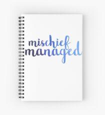 Ombre Mischief Managed Spiral Notebook