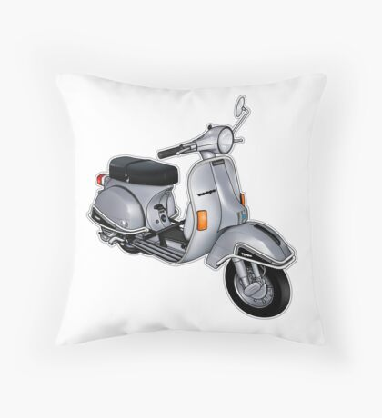 Scooter T-shirts Art: P200e vintage scooter Throw Pillow