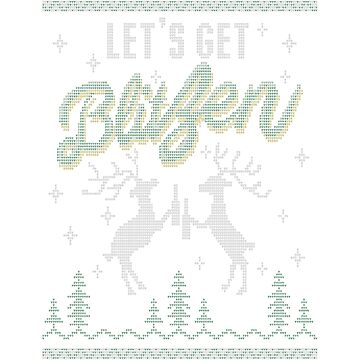 UGLY HOLIDAY SWEATER LET'S GET BLITZEN by Gaill