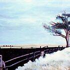 Field In Moe, Vic. Australia  by C J Lewis