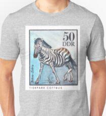 1975 East Germany Zoo Zebra Postage Stamp T-Shirt