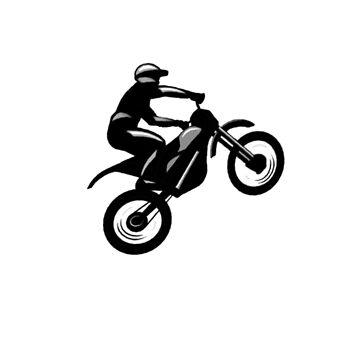 Motocross t-shirt (Plain black logo) by Spartiatis75