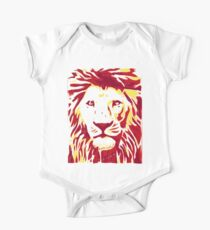 Lovely Lion Stencil (Warm) Kids Clothes