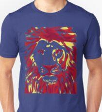 Lovely Lion Stencil (Warm) Unisex T-Shirt