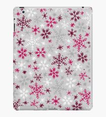 Snowfall - Silver and Cranberry iPad Case/Skin