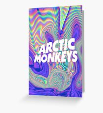 Arctic Monkeys Holographic Greeting Card