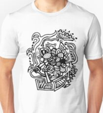 Black and White Doodle Design T-Shirt