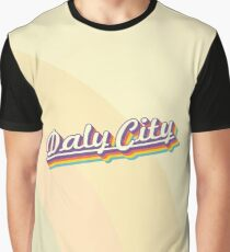 Daly City | Retro Rainbow Graphic T-Shirt