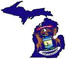 Michigan State Flag by Sun Dog Montana