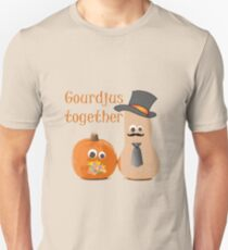 Gourdjus Together Cute Just Married Wedding Vector T-Shirt