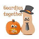 Gourdjus Together Cute Just Married Wedding Vector by taiche