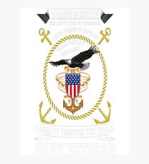 Forever The Title Navy Veteran Photographic Print