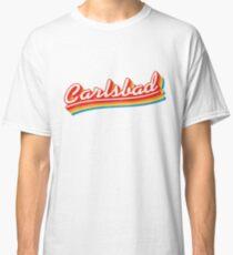 Carlsbad   Retro Rainbow Classic T-Shirt