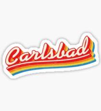 Carlsbad | Retro Rainbow Sticker