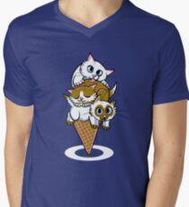Kitten Cone Men's V-Neck T-Shirt