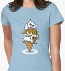Kitten Cone Women's Fitted T-Shirt