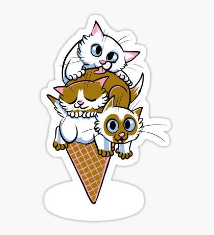Kitten Cone Sticker