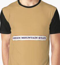 Green Mountain State   Retro Badge Graphic T-Shirt