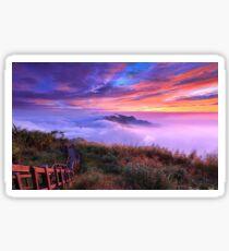Purple Clouds Sticker