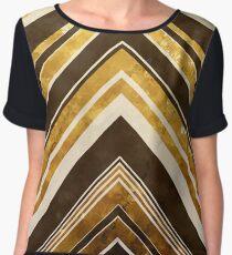 Geometric Geode - Gold Women's Chiffon Top