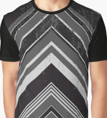 Geometric Geode - Grey/Black Distressed Graphic T-Shirt