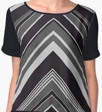 Geometric Geode - Grey/Black Women's Chiffon Top